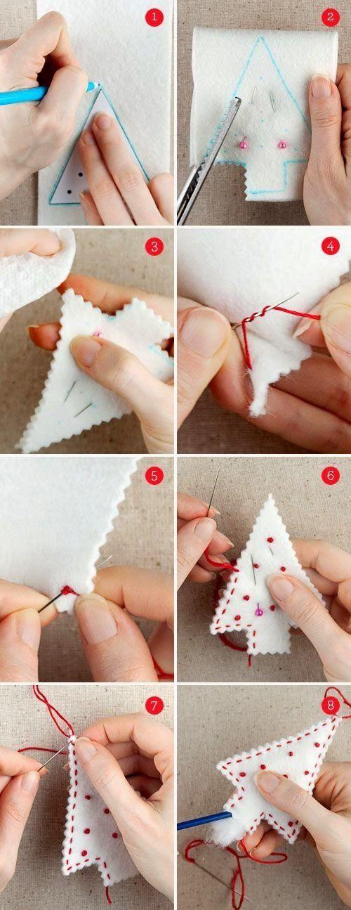 10 DIY felt Christmas Ornaments   Christmas Special by kathy.kaelin