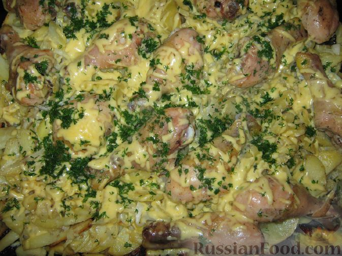 """Фото приготовления рецепта: Слоеная картошка """"На все случаи жизни"""" - шаг №6"""