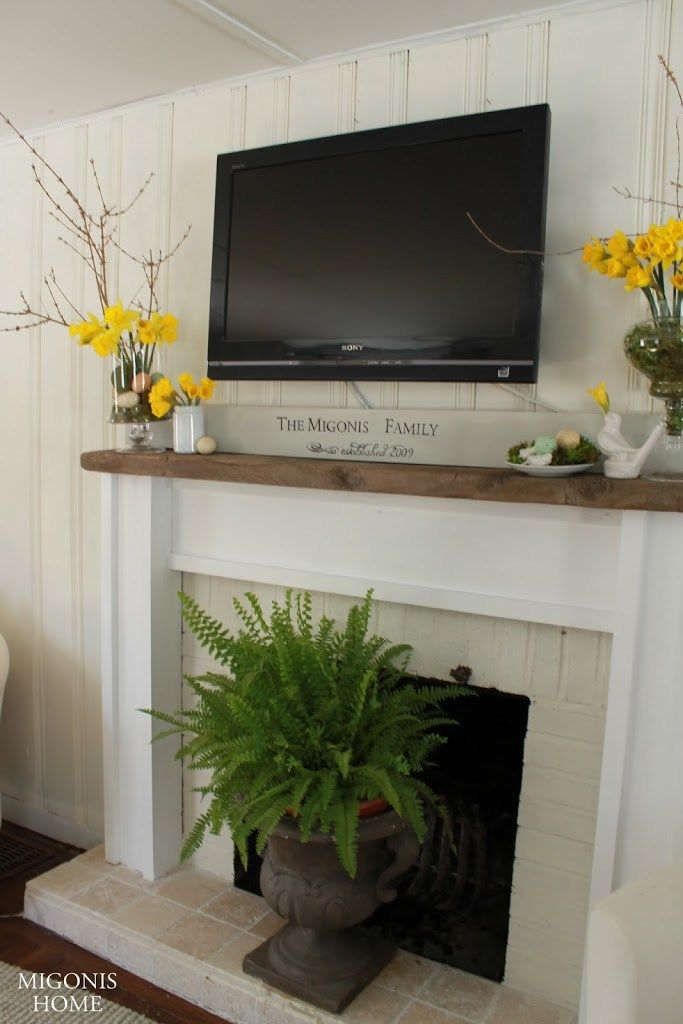 Mantel with TV More