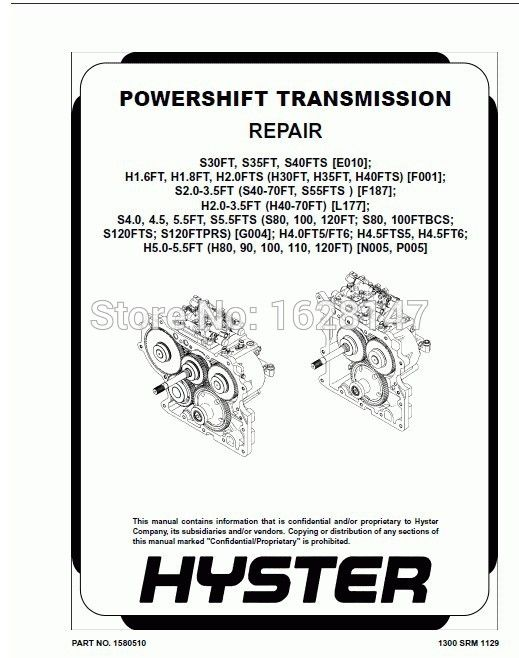 Hyster Internal Combustion Engine-Shop Manuals 2013 pdf