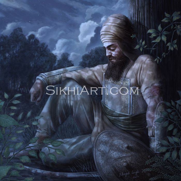 It is said that Guru Sahib was still in the highest of spirits, even after losing all of his family and devotees.