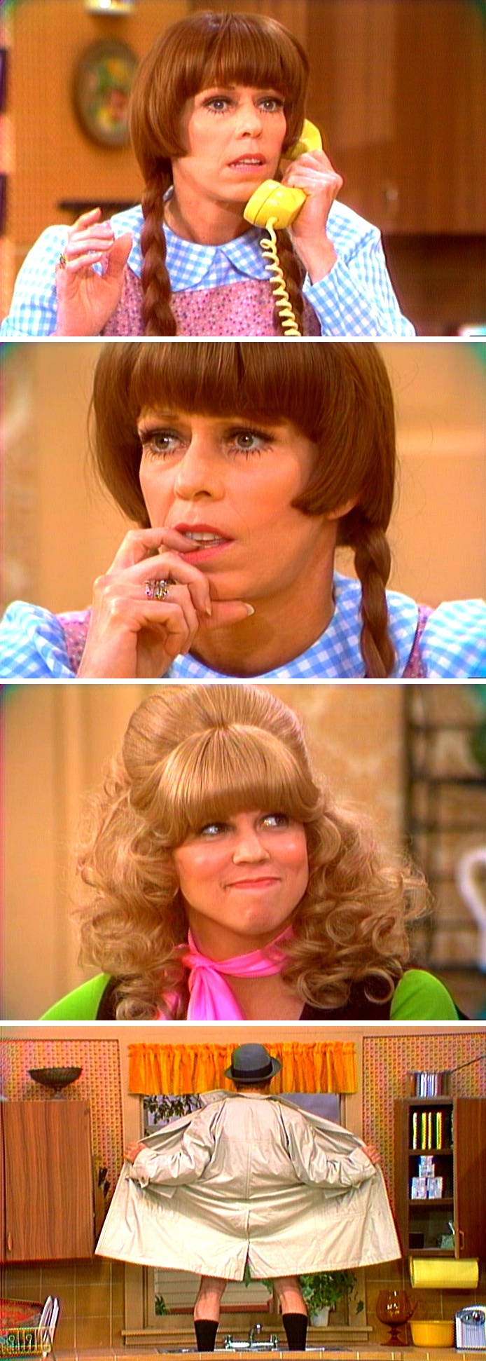 Saturday, Sept. 25, 1976 — The Carol Burnett Show — Carol & Vicki Lawrence in 'Mary, Mary Quite Contrary' spoof of Mary Hartman, Mary Hartman