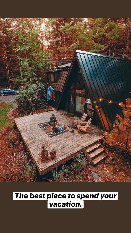Home Design, Tiny House Design, A Frame House Plans, A Frame Cabin, Ideas De Cabina, Tree House Interior, Tree House Homes, Interior Design Living Room, Living Room Designs