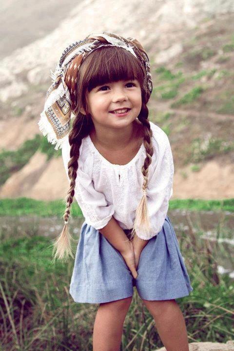 she's too cuteLittle Girls, Kids Style, Kids Fashion, Children, Bohemian Style, Kidsfashion, Hair, Head Scarf,  Poke Bonnets