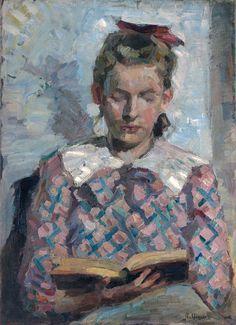 Jeune fille lisant van Gustav Adolph Hennig (1828) - Google Search