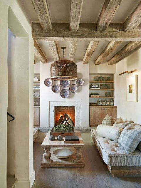 Light fixture.Coffe Tables, Living Rooms, Exposed Beams, Expo Beams, Mediterranean Living Room, Rustic Living Room, Living Room Design, Sitting Room, Wood Beams