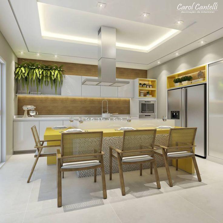 Carol Cantelli   Arquitetura De Interiores. Room KitchenDining TableDining  RoomBoardPsDesignGourmet KitchenInteriorKitchen Decor Part 53