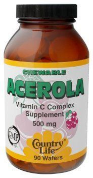 """COUNTRY LIFE VITAMINS ACEROLA & C,WAFER,500 MG, 90 CT, EA -1       Famous Words of Inspiration...""""Politics is the art of looking for trouble, finding it everywhere, diagnosing it incorrectly, and applying the wrong remedies.""""   Groucho... more details at http://supplements.occupationalhealthandsafetyprofessionals.com/vitamins/vitamin-c/c-complex/product-review-for-chewable-acerola-vitamin-c-com/"""