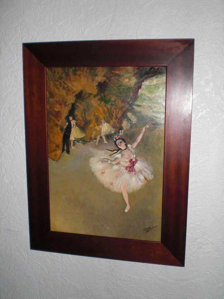 Ölgemälde auf Platte «Primaballerina» Edgar Degas Realismus um 1977