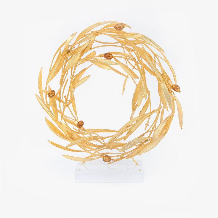 Elitecrafters.com Gold platted (24k) Olive Wreath