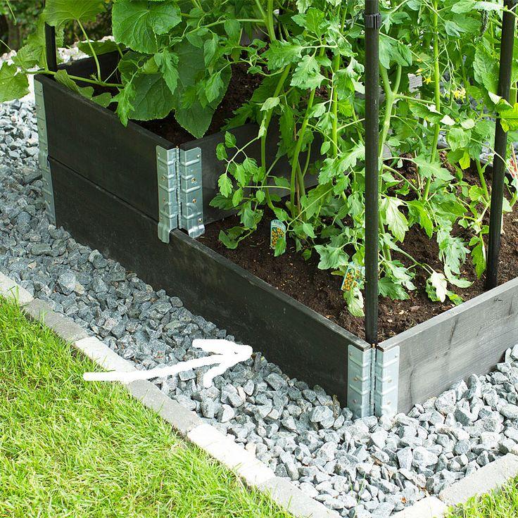 Odlingslåda pallkrage, svart 80x120cm, Pallkrage odlingslåda 80x120 cm