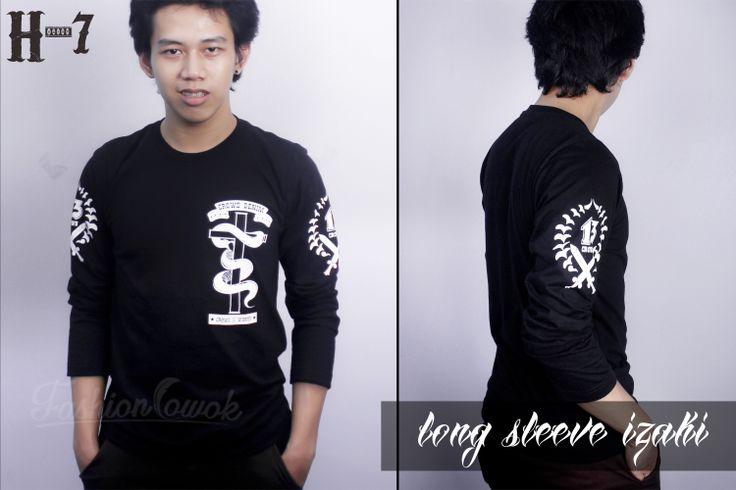 FASHION COWOK | Toko Jaket Online | Jaket Crows Zero | Jaket Korean Style | jual murah kaos T-Shirt Crows Zero - Izaki Long Sleeve Kode : H-7 Harga : 130.000 Size : S, M, L, XL  Melayani pengiriman ke seluruh Indonesia. Untuk di Yogyakarta kita melayani COD juga lho gan. Langsung hubungi Kontak CS ya untuk informasi lebih lanjut. :)  Pin BBM : 2BC218D2 Hp : 085713222114  Untuk pembayaran bisa melalui Rekening BCA, BNI, BRI atau MANDIRI  Terimakasih,, Ditunggu Segera Orderannya...