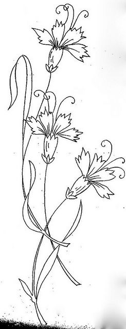 Dianthus embroidery design
