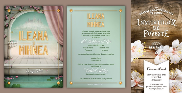 Dream Land - Wedding Invitation - www.yankoo.ro
