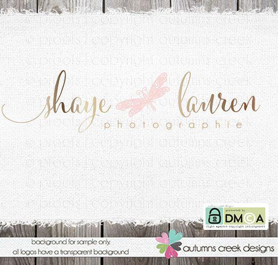 Logo Design - premade dragon fly logo -  Logo for Photographer - photography Logos - photography watermark design