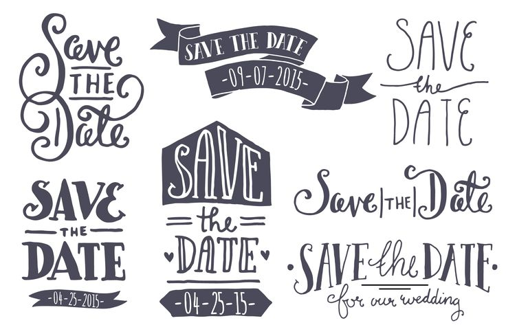 Save the Date Overlays by The Pen & Brush on Creative Market