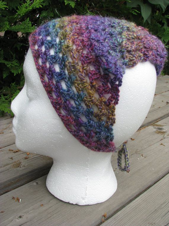 Rainbow crochet kerchief by TheEclecticMuses on Etsy, $20.00