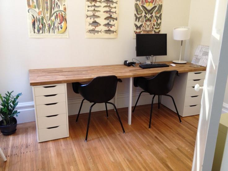 desk ikea diy odds ends pinterest desks. Black Bedroom Furniture Sets. Home Design Ideas