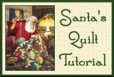 Quilting Santa's Rising Sun Quilt Pattern Tutorial from Victoriana Quilt Designs