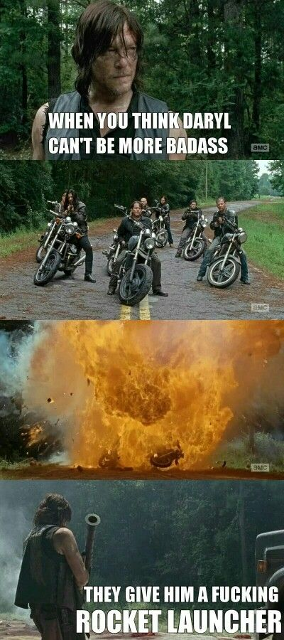 The Walking Dead, season 6 episode 9 Daryl Dixon - professional badass ♡