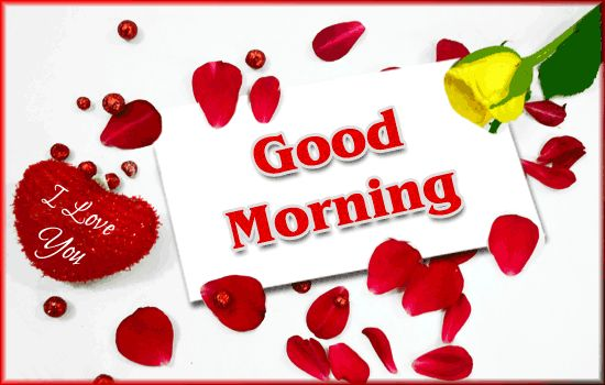 Good Morning I Love You: Good Morning Sweet Heart Greeting Ecard ! Flower, Heart