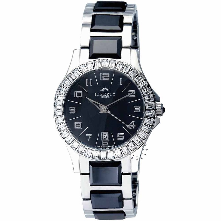 LIBERTY Crystal Black Ceramic and Stainless Steel Bracelet Τιμή: 215€ Τιμή Προσφοράς: 86€ http://www.oroloi.gr/product_info.php?products_id=20281