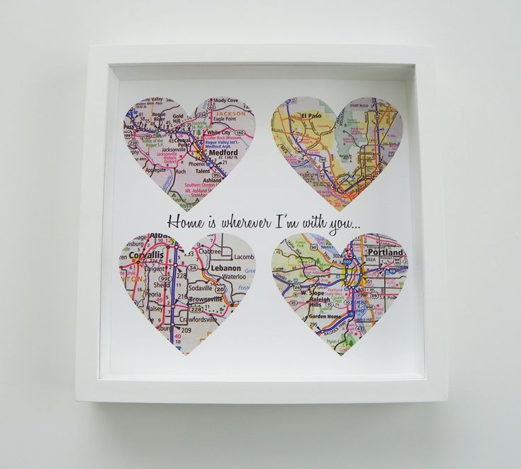 Unique Wedding Gift Personalized Map Heart Art Gift - Any Location Available - Gift for Bride Gift For Groom. $55.00, via Etsy.