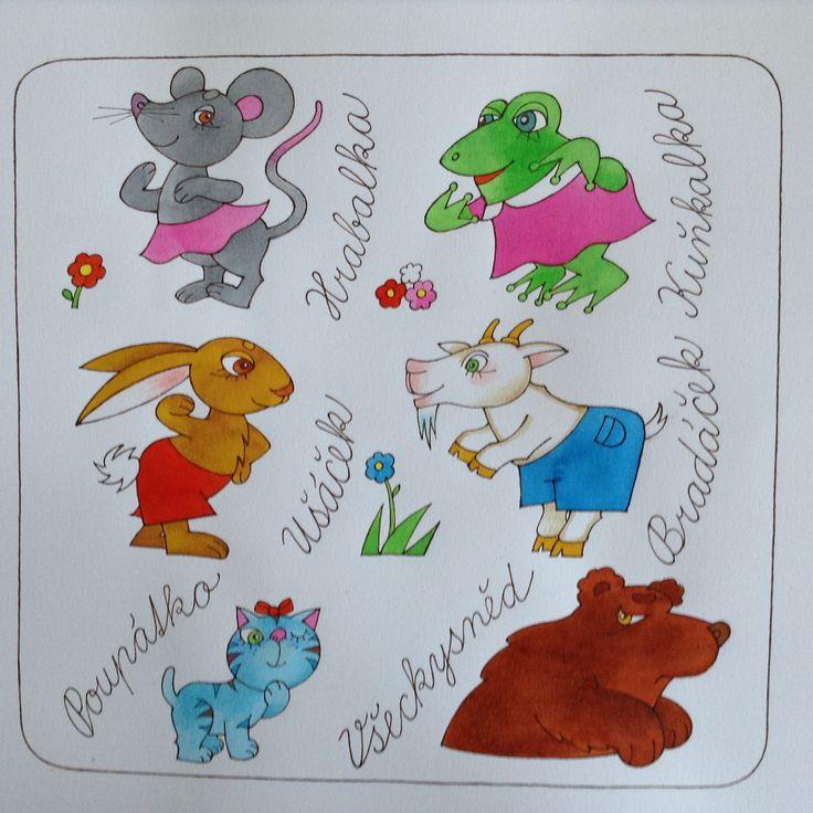 Ilustrace Zvířecí Chaloupka  Vlasta Švejdova´