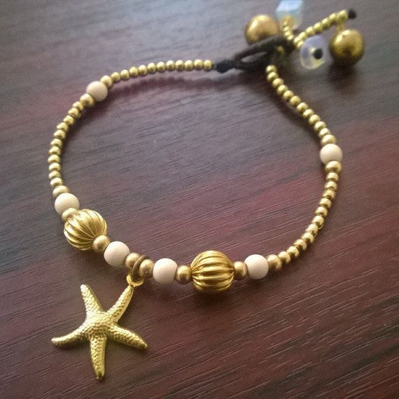 Welcome to Bohemian Style. You are looking at an original, handmade brass and waxed cotton bracelet, adorned with white howlite stones and a
