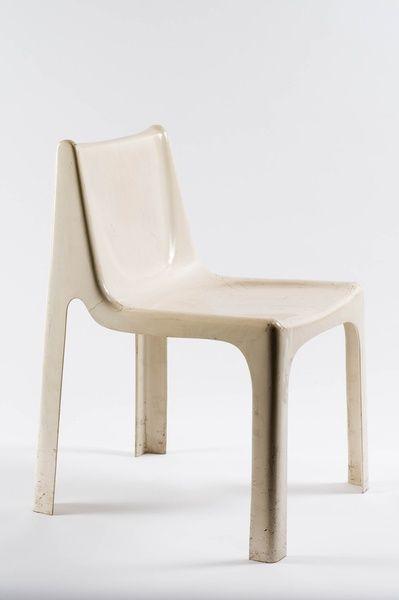 Andre Vandenbeuk; Molded Plastic Chair, c1970.