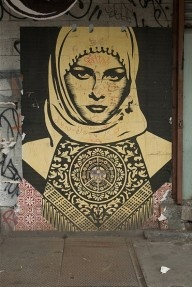 Burqas in Back Alleys Street Art hijab and the