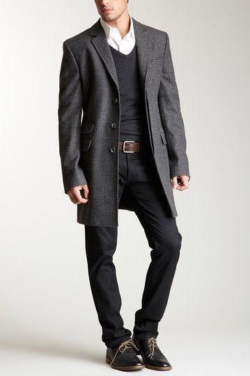 Street style tendance : On HauteLook: D&G | D&G Men Long Plaid/Check Coat