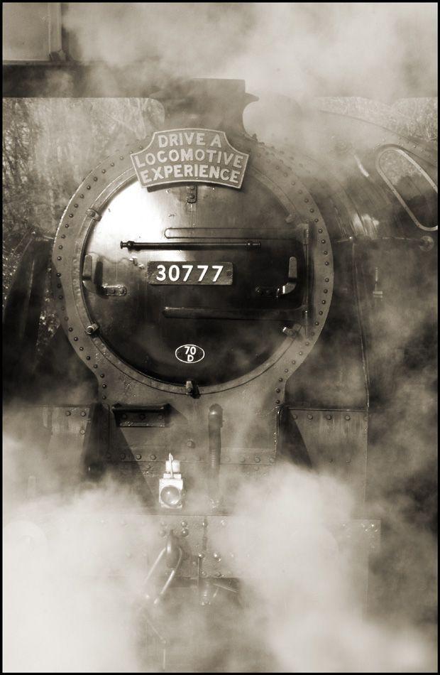 Locomotora a vapor. La experiencia de conducir una locomotora.