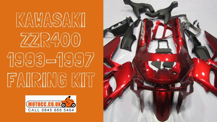 KAWASAKI ZZR400 1993-1997 FAIRING KIT  Made via the Injection Mould process.  This means it provides as close fit as the OEM panels.  This kit is made up of 25 pieces  Made in ABS plastic  Comes with free Screen.  Injection Moulded - Photos are of a compression kit but very simular. http://www.motocc.co.uk/acatalog/KAWASAKI-ZZR-400-93-97-RED-FAIRING-KIT.html  #motocc #motoccuk #motorcyclefairings #motorcyclebodywork #hondafairings