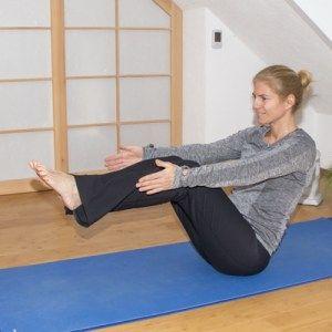 Yoga zum Abnehmen: Boot (Variation)