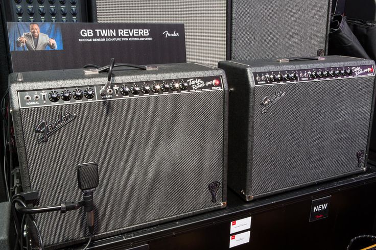"""GB Twin Reverb  """"My favorite amp from many years ago, back when I couldn't afford one, was a Fender Twin,"""" George Benson said Saturday when he stopped by NAMM to introduce his latest signature amp. The GB Twin Reverb was a show-stopper, with a smooth attack and rich, punchy tone. To highlight some of the amp's features, Benson himself even demonstrated its refined sound by playing a few songs."""