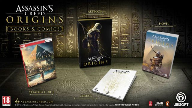 Assassin's Creed Origins Publishing range to bring new books and comics galore! The video gaming world has long dipped its toe in the book publishing waters and today Ubisoft have announced that Assassin's Creed Origins will go far and beyond just being 'a game'... instead you'll also be able to get hands on with a number of book options.  http://www.thexboxhub.com/assassins-creed-origins-publishing-range-galore/