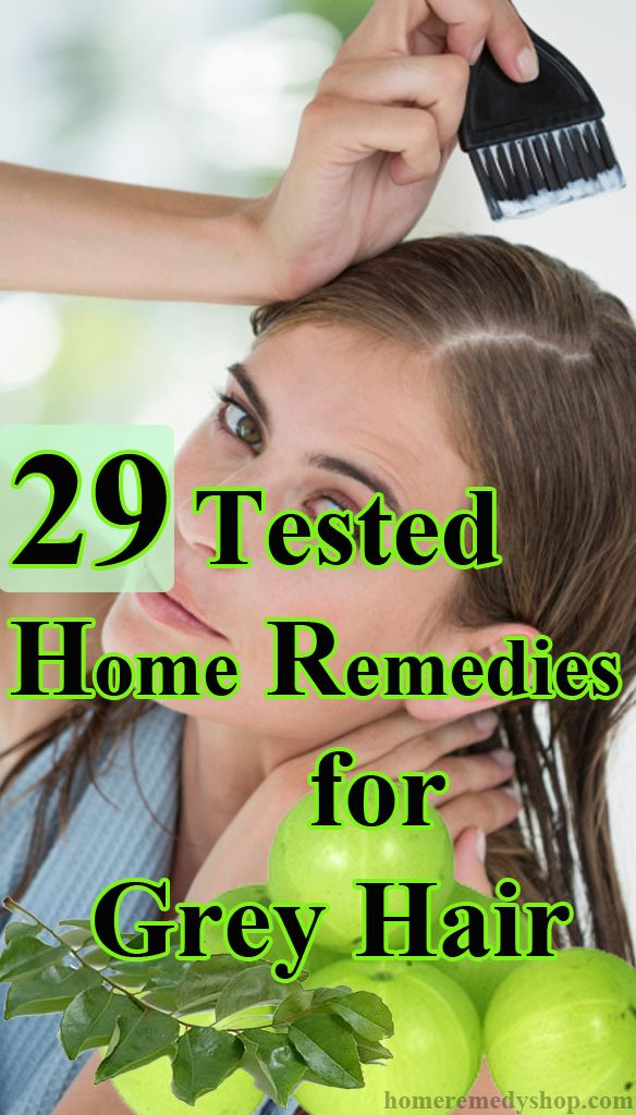 29 Tested Home #Remedies for Grey #Hair Home Remedies for Grey Hair  1. Amla (Indian Gooseberry)  Indian Gooseberry or amla is an excellent remedy for treating premature grey hair. Boil some pieces of amla in coconut oil till it turns black and massage your hair with it to cure your grey hair, naturally.  Amla can also be used in the form of oil or paste. Decoction of amla can cure grey hair in just fifteen days. To prepare this decoction, soak a few pieces of amla for a few hours and add 1…