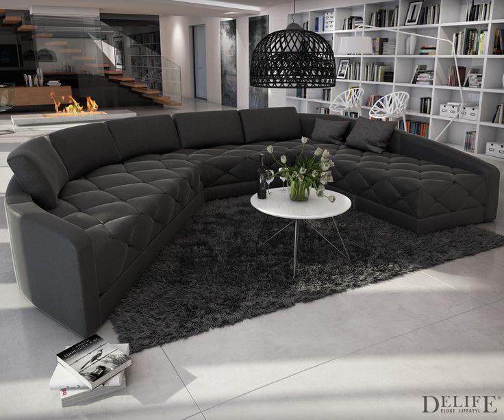 Ledercouch schwarz kissen  30 besten Deluxe Home Bilder auf Pinterest | Für dich, Weiss und ...