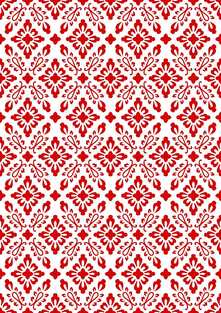 FREE printable red-white pattern paper