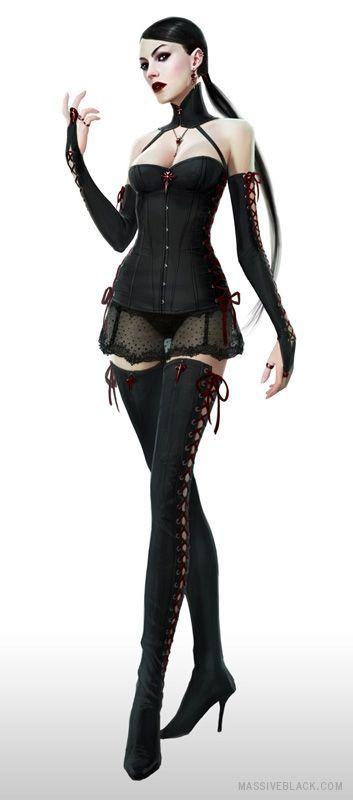 gothic school girl concept art   Goth Girl Black Lingerie   Goth and Fantasy   Pinterest