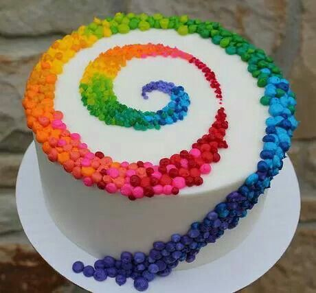 I think this is my favorite! Lisa Frank Rainbow Swirl Cake!!!