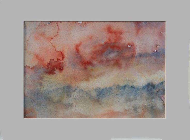 """Sunset"" 2015 30 x 21 cm Watercolour on cotton paper 300 g luigibarra.blogspot.it"