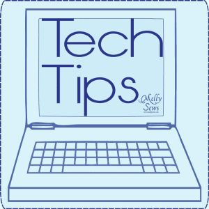 Tech Tip - Best Picture Size for your Blog - Melly Sews