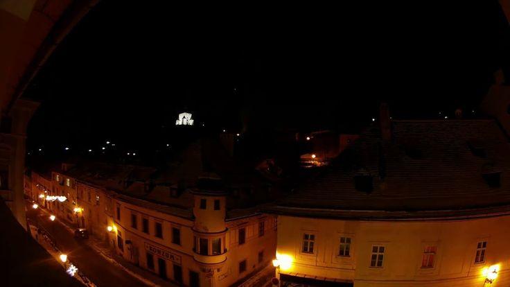 Časozberné video z okna našej kancelárie počas osláv nového roka. Banská Štiavnica A. Kmeťa 12.
