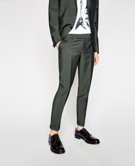 Khaki suit trousers - THE KOOPLES MAN
