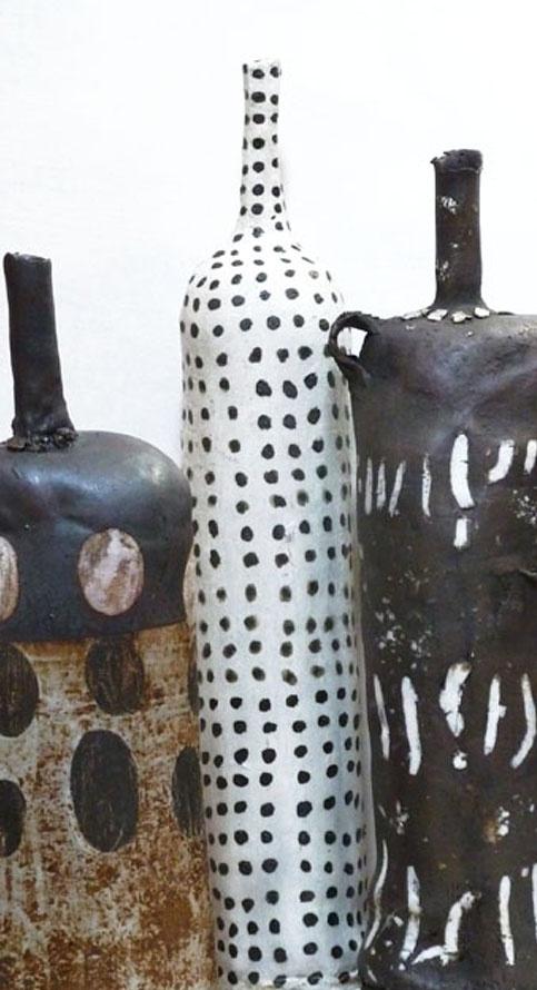 tribal bottles~Brenda Holzke