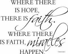 I have to work on my FAITH