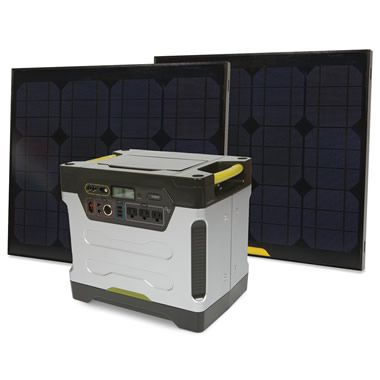 Solar powered generator - not having to depend on fuel to run a generator is a great idea. Need this!
