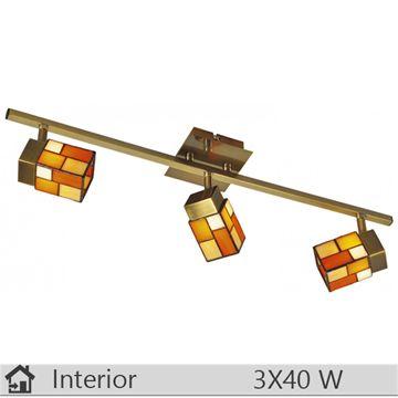 Plafoniera iluminat decorativ interior Klausen, gama Tiffany, model Arco3